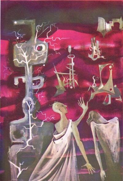 """Les Xipéhuz"" was the cover illustration for the 1961 French language anthology 55 histoires extraordinaires, fantastiques et insolites edited by Marcel Aymé and Pierre-André Touttain."