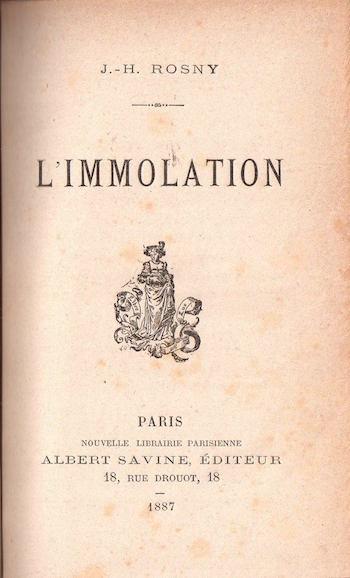 """First edition of """"Les Xipéhuz"""" published by Albert Savine (1888)."""
